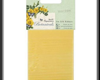 1.4 cm x 5 m yellow silk ribbon