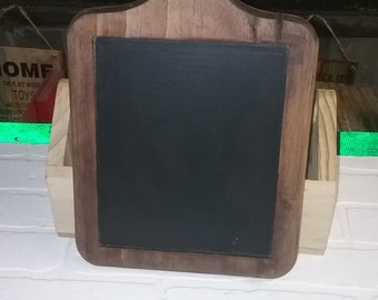 Small Wooden hanging  Chalk board 16x9x3/4 inches