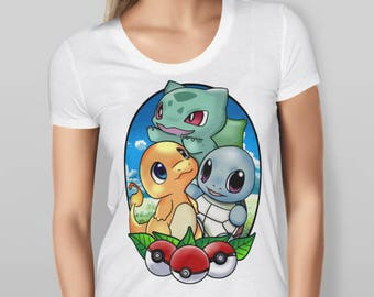 Pokemon Starters - T-Shirt | Womens