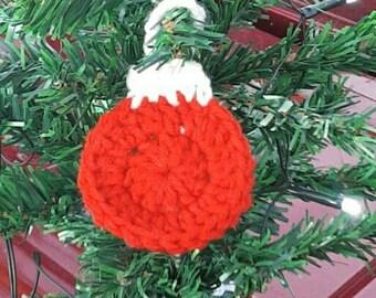 Crochet Christmas bulb ornament