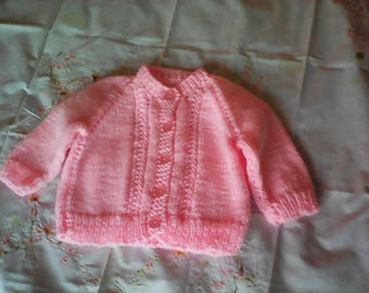 Handmade Baby Sweater 6 months to 12 months. 100% Acrylic.