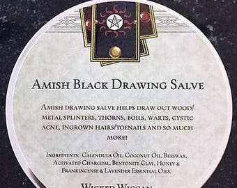 Amish Black Drawing Salve