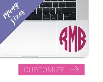 Monogram Decal for Laptop, Computer Monogram Decal, Laptop Stickers, Decal for Laptop, Macbook Monogram decal