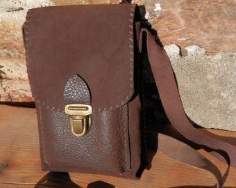 Mixed bag - Brown & Brown cowhide leather