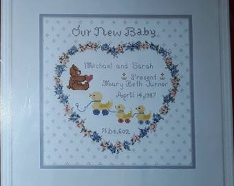 "Needle Treasures Counted Cross Stitch Kit ""Our New Baby"""
