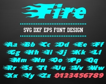 SVG DXF EPS Font Design | Files for Cricut | Cuttable Alphabet Letters for Silhouette | Vector Font | Instant download | 50
