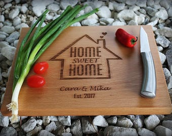 Personalized Cutting Board, Custom Cutting Board, Personalized Wedding Gift, Solid Board, Housewarming Gift, Anniversary Gift, Chef Gift