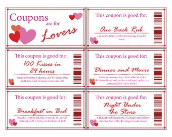 Love Coupon Book | Printable | Digital | Stocking Stuffer | Valentine's Day | Romance | Anniversary | Gift