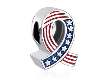 Pandora charms inspired America USA cross flag charm pandora charm bracelets pandora necklaces sterling silver jewellery craft making
