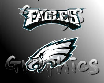 Philadelphia Eagles Primary Logo with Logotype Full Color - SVG - DXF - EPS - Vectors