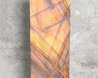 Modal Scarf / Silk Scarf / Trendy Scarf / Handmade Scarf / Unique Scarf /  Abstract Scarf / Stylish Scarf / Orange Scarf