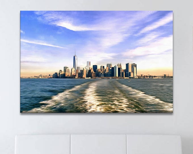 Sea coast New York, World trade center new york, ocean, USA Poster, canvas, Interior decor, print poster, USA picture, art picture, gift