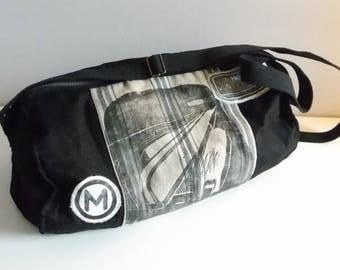 Shoulder bag with printing, subway series