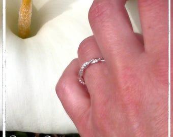 Alliance facettée torsadée 2 anneaux argent 925 - Alliance 3mm - Alliance femme mariage