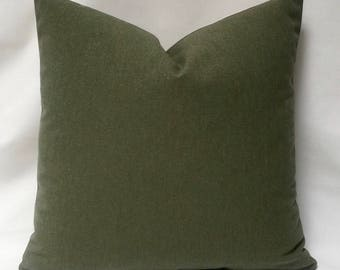 "20 x 20"" Green Pillow Cover - Designer Pillow - Green Accent Pillow - Green Throw Pillow"