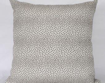 "18 x 18"" Gray Polka Dot Mid Century Modern Pillow Cover - Designer Fabric- Accent Pillow - Designer Throw Pillow"