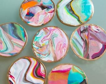 Marbleized Coasters