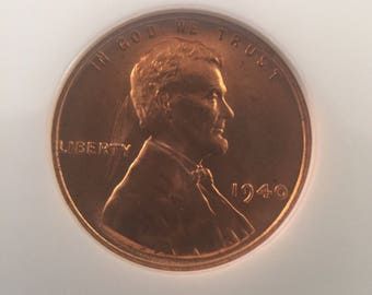 1940 Lincoln Cent MS66RD NGC