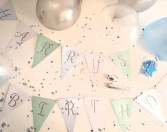 Personalised Childrens Birthday Decorations Kit. Happy birthday pack. Birthday decorations kit. Birthday celebration. Baby boy. 1st birthday