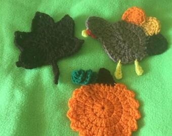 Crochet Fall Coasters (3)