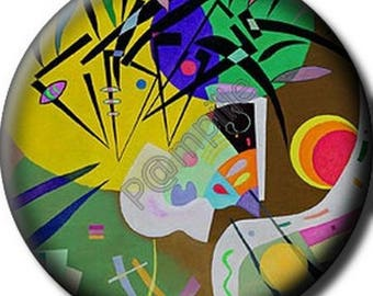 Cabochon resin 25 mm - Kandinsky art - (700) stick
