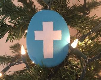 Cross Egg Ornament