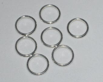 30 color 14x2mm silver closed jump rings