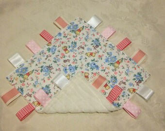 Baby Girls Taggy Taggie Blanket snuggle Cath Kidston Winnie the Pooh comforter