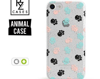 Paw Phone Case, Pet Paw Phone Case, iPhone 7 Case, Dog Phone Case, Paw Print Case, Animal, iphone 6, Gift for Her, iPhone 6s, Samsung Galaxy