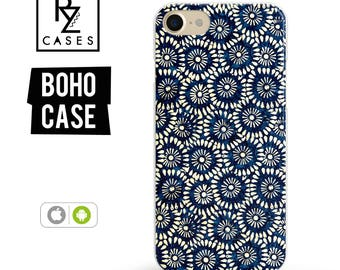 iPhone 7 Case, Boho Case, iPhone 6 Case, Floral Phone Case, indigo Phone Case, iPhone 7 Plus Case, iPhone 6 plus, Samsung Galaxy, Bohemian
