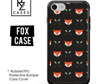 Fox Phone Case, Cute Fox Phone Case, Fox iPhone Case, iPhone 7, Animal, Gift for Her, iPhone 7 Plus, iPhone 6S, Rubber, Bumper Case