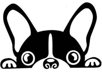 Boston Terrier Decal | Boston Terrier Decor | Boston Terrier Decorations | Boston Terrier Sticker | Boston Terrier laptop decal