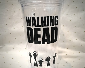 The Walking Dead 16 oz Water Tumbler Zombies TWD Water Bottle Negan Daryl Dixon Rick Grimes Carol Karl Stocking Stuffer Christmas Gift