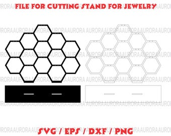 Jewelry Displays SVG Laser cut vector CNC File for cutting stand for jewelry, template stand for jewelry Vector Jewelry Stand