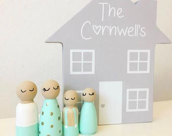 Peg doll house | Personalised peg doll home