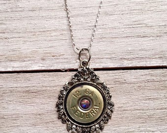 Shot gun shell bullet necklace