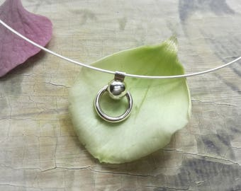 Ring of O necklace necklace choker Necklace Silver O ring