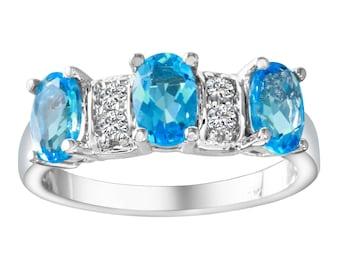 Women's Diamond and Topaz Ring