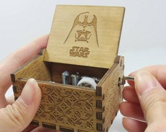 Handmade Engraved Wooden Music Box - STAR WARS