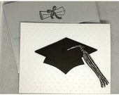 Caps Off Graduation Card