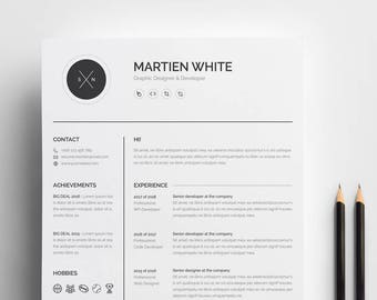 Customer Service Sales Resume Word Clean Resume  Etsy Cook Resume Objective with Samples Of Functional Resumes Pdf Clean Resumecv High School Students Resume Word