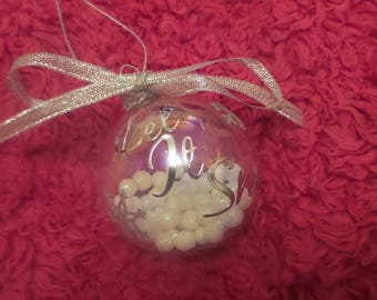 Let it snow Christmas bauble