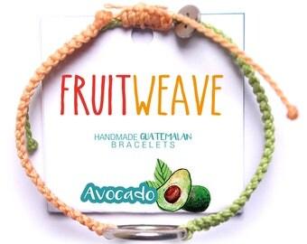 AVOCADO NEAT BRACELET, Guatemalan Bracelets, Handmade bracelets, colorful bracelets, fruit based, fruit weave, friendship bracelets.