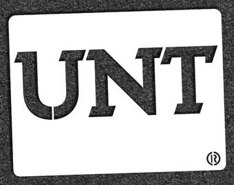 "University of North Texas ""UNT"" – MINI STENCIL"