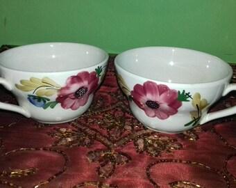 RICHARD GINORI handmade cups,made in italy 1986