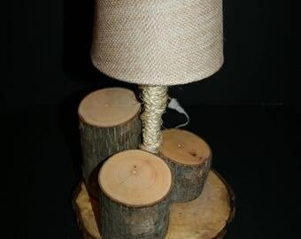Maple and Oak Desk Lamp