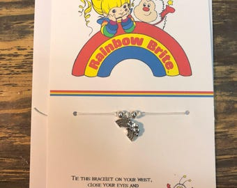 Rainbow wish bracelet.Rainbow charm bracelet.Rainbow brite wish bracelet.Friendship bracelet