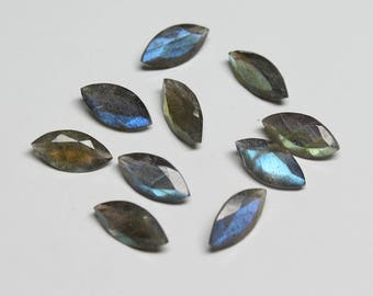 Natural Labradorite Faceted Marquise, size- 6X12 MM Approx, 10 PCs Lot Flashy Fire Labradorite Marquis 6X12 mm loose gemstones HL04
