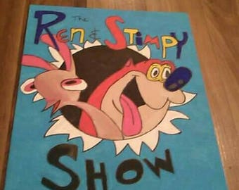 8 by 10 Ren and stimpy