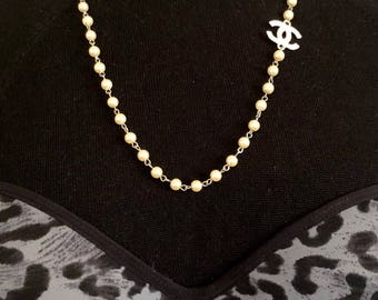 Ivory pearls silver Necklace,Ivory Necklace,Wedding Ivory Necklace